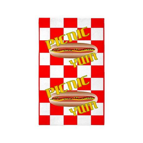 Picnic Hotdog 3'x5' Area Rug