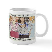 peace on earth bosombuddies mug
