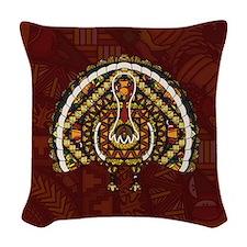 Fall Turkey Woven Throw Pillow