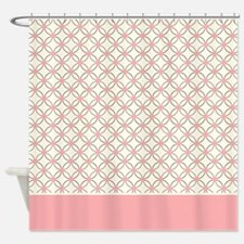 Brown Circles & Pink Dots 2 Shower Curtain