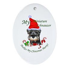 Miniature Schnauzer Ornament (Oval)