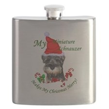 Miniature Schnauzer Flask