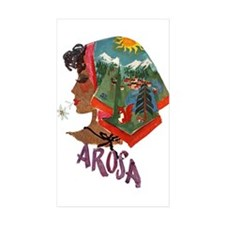 Vintage Arosa Switzerland Travel Decal