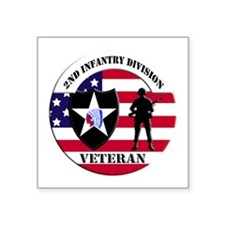 2nd Infantry Division Veteran Sticker