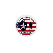 2nd Infantry Division Veteran Mini Button (10 pack
