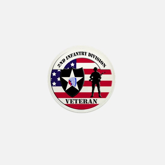 2nd Infantry Division Veteran Mini Button
