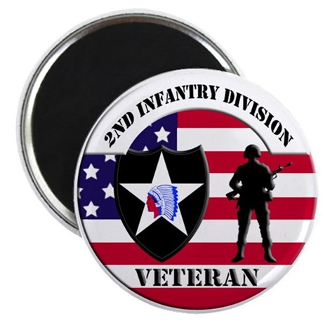 "2nd Infantry Division Veteran 2.25"" Magnet (100 pa"