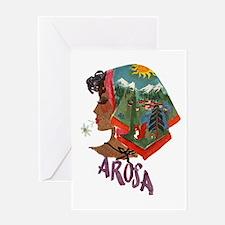 Vintage Arosa Switzerland Travel Greeting Card