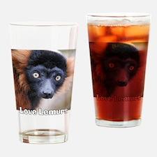 Love Lemurs Drinking Glass