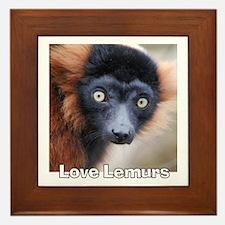 Love Lemurs Framed Tile