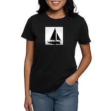 Black Boat silhouette Tee