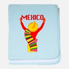 Vintage Mexico Travel baby blanket