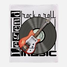 Vintage Guitar Throw Blanket