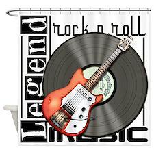Vintage Guitar Shower Curtain