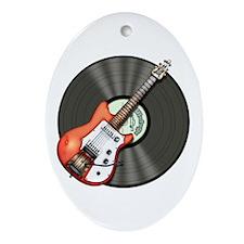 Vintage Guitar Ornament (Oval)