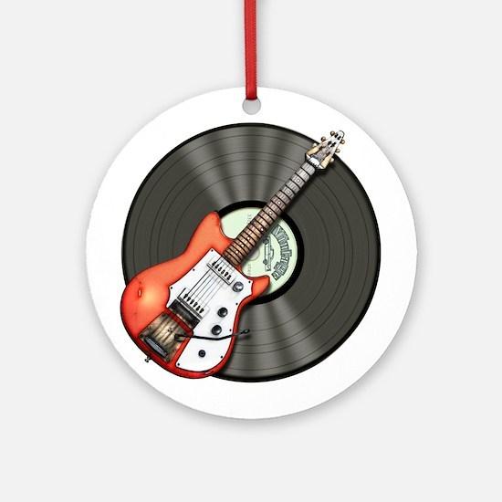 Vintage Guitar Ornament (Round)