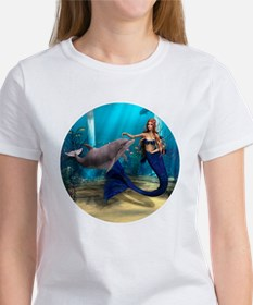 Mermaid and Dolphin Tee