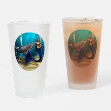 Mermaid and Dolphin Drinking Glass