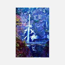 """Multnomah Falls Bridge"" Rectangle Magnet (100)"