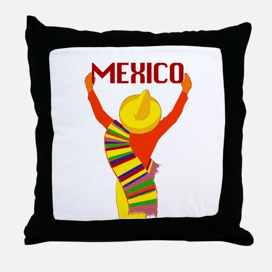 Vintage Mexico Travel Throw Pillow