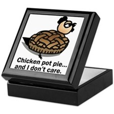 Chicken Pot Pie and I Don't Care Keepsake Box