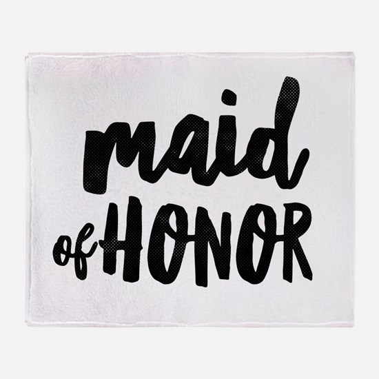 Wedding Party- Maid of Honor Throw Blanket