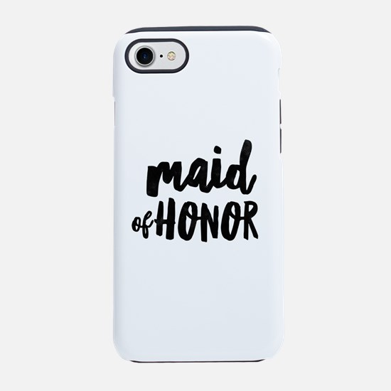 Wedding Party- Maid of Honor iPhone 7 Tough Case