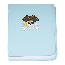 Pirate Face baby blanket