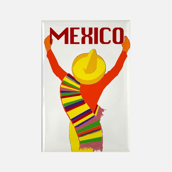 Vintage Mexico Travel Rectangle Magnet