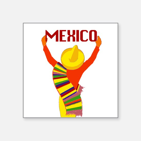Vintage Mexico Travel Sticker