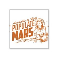 Available To Populate Mars (Woman) Sticker
