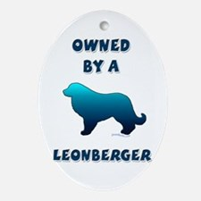 Leonberger Silhouette Oval Ornament