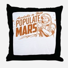 Available To Populate Mars (Man) Throw Pillow