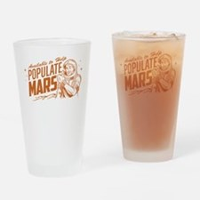 Available To Populate Mars (Man) Drinking Glass