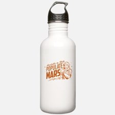 Available To Populate Mars (Man) Water Bottle