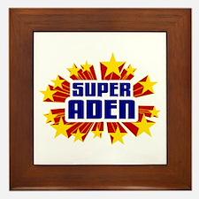 Aden the Super Hero Framed Tile
