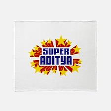 Aditya the Super Hero Throw Blanket