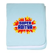 Aditya the Super Hero baby blanket