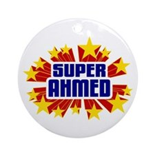 Ahmed the Super Hero Ornament (Round)