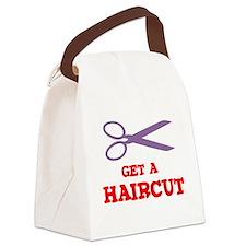 GET A HAIRCUT Canvas Lunch Bag