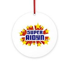 Aidyn the Super Hero Ornament (Round)
