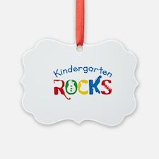 Kindergarten Rocks Ornament