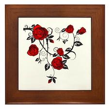 Rose Framed Tile