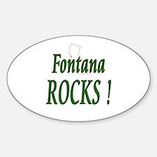 Fontana Rocks ! Oval Decal