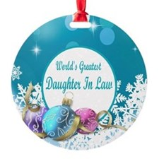 Worlds Greatest Daughter In Law Ornament