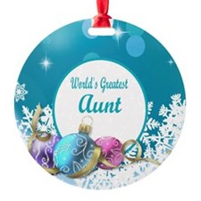 Worlds Greatest Aunt Ornament