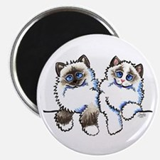 Ragdolls Pair Off-Leash Art™ Magnet