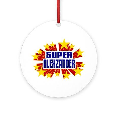 Alexzander the Super Hero Ornament (Round)