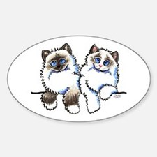 Ragdolls Pair Off-Leash Art™ Decal