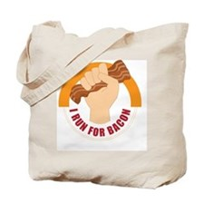 I Run For Bacon Tote Bag